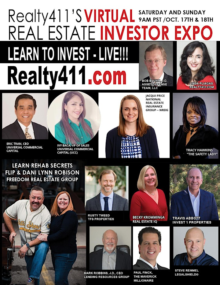 Realty411's VIRTUAL Weekend Investor Expo - JOIN US THIS OCTOBER ONLINE! image