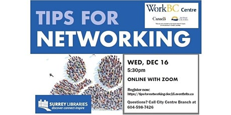 Tips for Networking Online Workshop - Dec 16 at 5:30 pm tickets