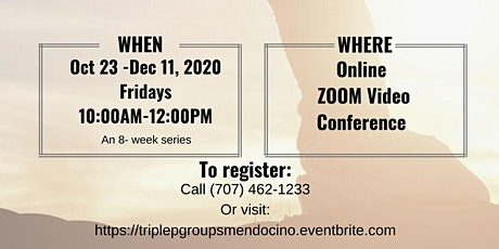 Triple P Parenting Group- ZOOM Video Conference [Oct 23 - Dec 11, 2020] tickets