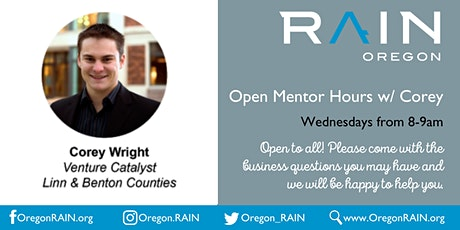 Open Mentor Hours w/Corey tickets