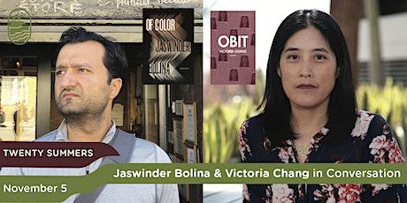 Twenty Summers: Jaswinder Bolina & Victoria Chang in Conversation tickets