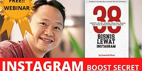 Instagram Boost Secrets [Jurus Tambah Income dari IG Tanpa Banyak Follower] tickets