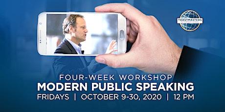 Modern Public Speaking 4-Week Workshop tickets