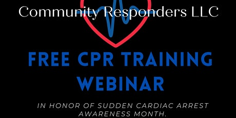 SCA Awareness Month CPR Training Event - Via Zoom tickets