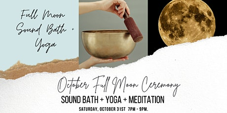 Full Moon Sound Bath + Yoga : in-person, small group tickets