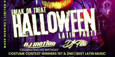 Freak or treat Halloween latin party tickets