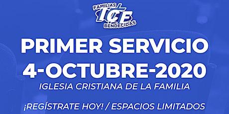 Servicio ICF - 4 de octubre de 2020  - Primer Servicio - 8AM tickets