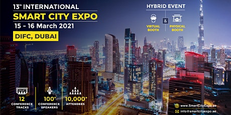 13th International Smart City Expo 15-16 Mar 2021, DIFC Dubai tickets