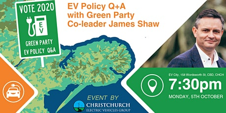 EV Policy Q+A with Green Party Co-leader James Shaw tickets
