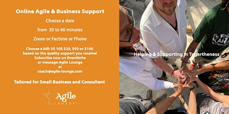 Agile Business Support Online Coaching  (Français & English) tickets