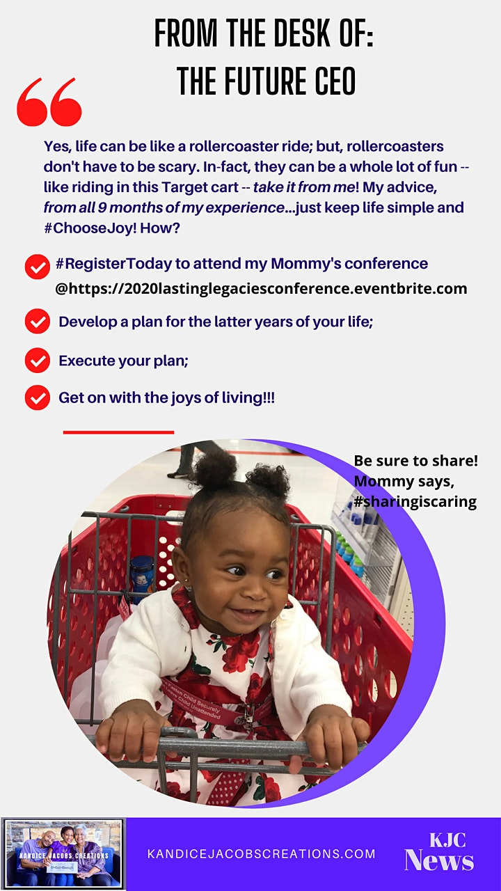 2020 Lasting Legacies: Virtual Life-Planning Conference image