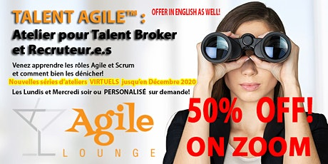 Atelier TALENT Agile™ Workshop - VIRTUEL ZOOM OFFER! billets