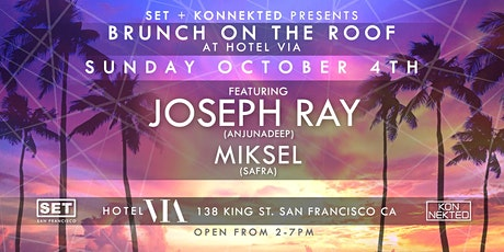 Joseph Ray (ANJUNADEEP) Rooftop, Social Distancing Brunch at Hotel Via tickets