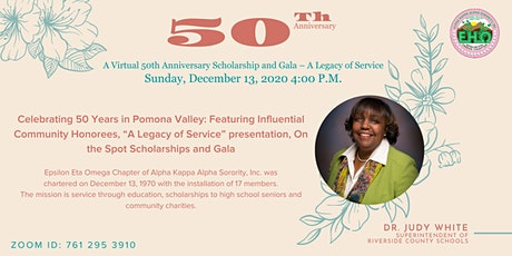 A Virtual 50th Anniversary Scholarship and Gala - A Legacy of Service tickets