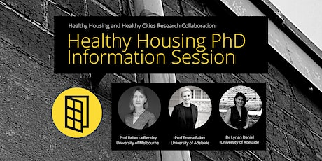 Healthy Housing PhD information session tickets