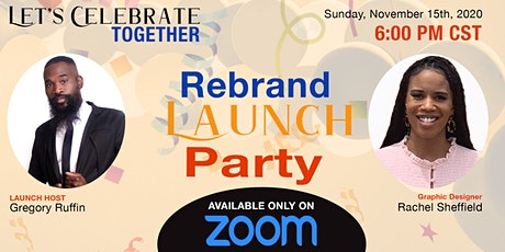 Rachel's Designs Rebrand Launch Zoom Party tickets