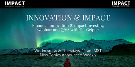 Sustainable Forestry Real Estate Financial Innovation & Impact Investing tickets