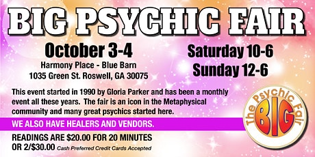 October Big Psychic Fair ~ Roswell ~ Say YES tickets