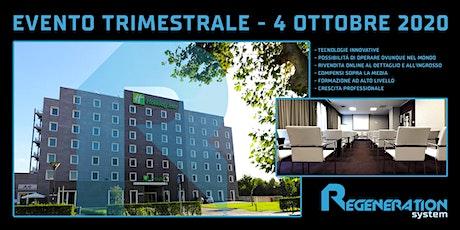 REGENERATION SYSTEM EVENTO TRIMESTRALE OTTOBRE 2020 biglietti