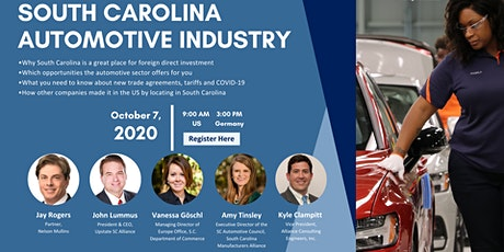 South Carolina Automotive Industry tickets