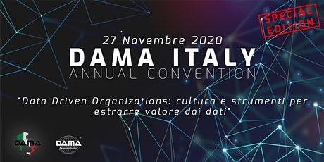 DAMA Italy Annual Convention 2020 biglietti