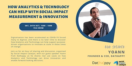 How Analytics & Technology can help Social Impact Measurement & Innovation tickets