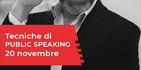 Presentazione corso Public Speaking biglietti