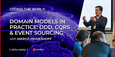 Domain Models in Practice: DDD, CQRS & Event Sourcing with Marco Heimeshoff tickets
