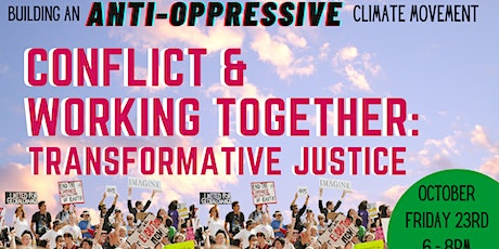 Conflict and working together: a transformative justice approach tickets