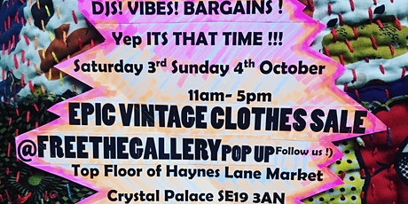 Monthly Vintage Clothes Sale . Djs and guest rails. Free entry. tickets
