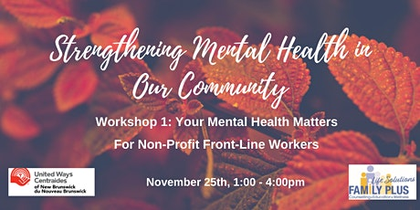 Your Mental Health Matters tickets