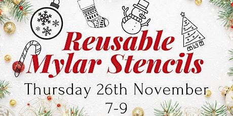 Reusable Mylar Christmas Stencils tickets