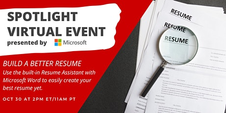 Build a Better Resume tickets