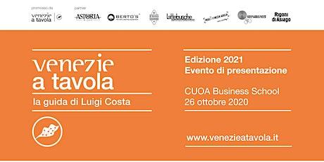 Venezie a Tavola 2021 | Evento presentazione Guida biglietti