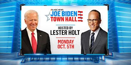 NBC News Joe Biden Town Hall, Hosted by Lester Holt tickets
