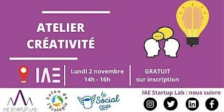 Atelier Créativité - Social Cup Tickets