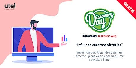 """Seminario Web """"Influir en entornos virtuales"""" boletos"""