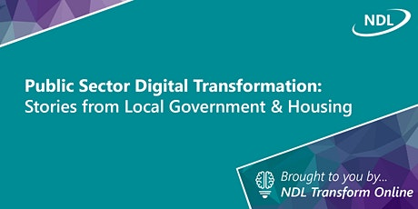 Public Sector Digital Transformation: Stories from LG & Housing tickets