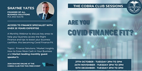 Covid Are You Finance Fit tickets