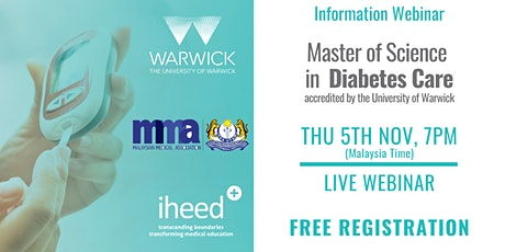MSc Diabetes: University of Warwick - Info Webinar - MYS Nov 2020 tickets