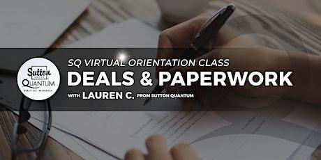 SQ Orientation #4: Deals & Paperwork with Lauren tickets
