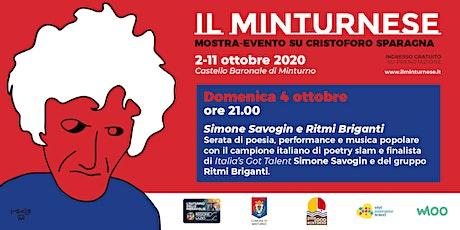 Il Minturnese - Simone Savogin e Ritmi Briganti biglietti