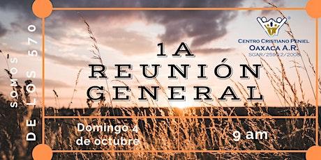 1a Reunion General | Domingo 4 de octubre 2020 tickets