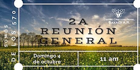 2a Reunion General | Domingo 4 de octubre 2020 tickets
