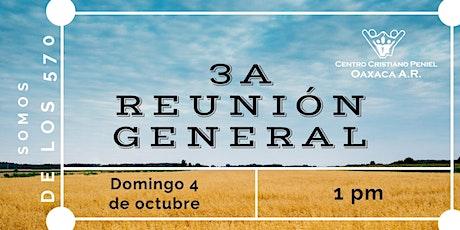 3a Reunion General | Domingo 4 de octubre 2020 tickets