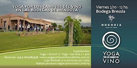 Yoga por los Caminos del Vino + brunch en BODEGA BRESSIA entradas