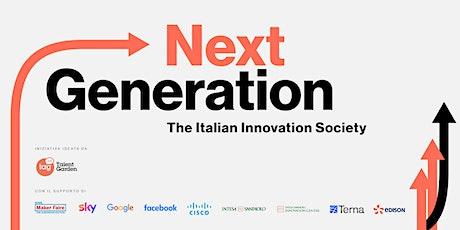 Next Generation | The Italian Innovation Society biglietti