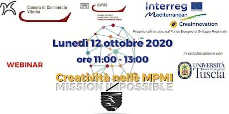 Creatività nelle MPMI - CREAINNOVATION biglietti