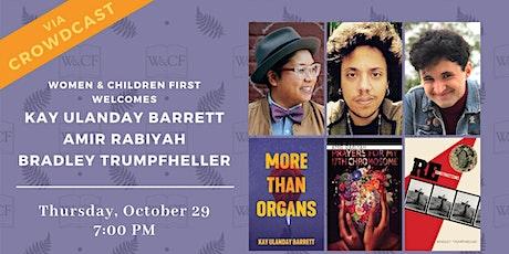 Poetry Reading: Kay Ulanday Barrett, Amir Rabiyah, and Bradley Trumpfheller tickets