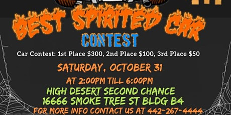 High Desert Second Chance Trunk or Treat Car Participation and Registration tickets